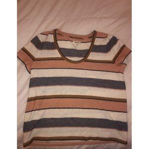 multi-colored striped blouse